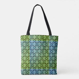 Bolsa Tote Teste padrão abstrato verde