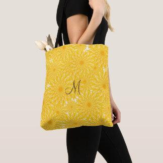 Bolsa Tote Teste padrão amarelo ensolarado alegre do