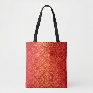 Bolsa Tote Teste padrão antigo real luxuoso floral