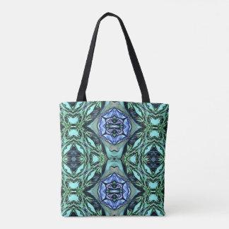 Bolsa Tote Teste padrão artístico do Lilac Funky da cerceta