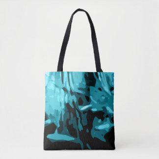 Bolsa Tote Teste padrão azul na moda de Camo do Aqua da