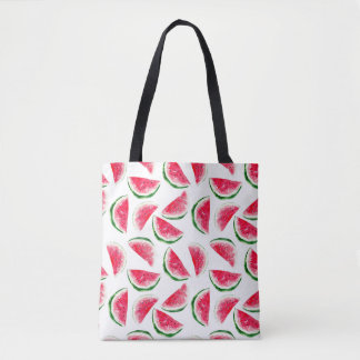Bolsa Tote Teste padrão bonito do abacaxi & da melancia