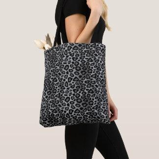 Bolsa Tote Teste padrão cinzento do leopardo