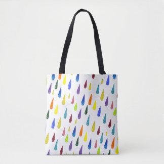 Bolsa Tote Teste padrão colorido do dia chuvoso