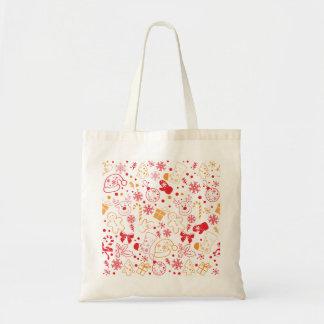 Bolsa Tote Teste padrão colorido engraçado de Christmassy