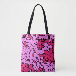 Bolsa Tote teste padrão cor-de-rosa