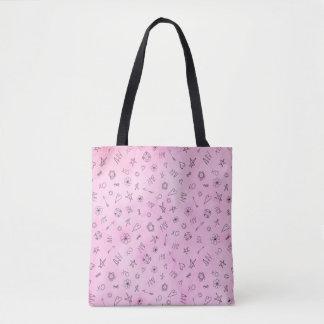 Bolsa Tote Teste padrão cor-de-rosa conhecido personalizado