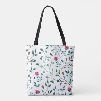 Bolsa Tote Teste padrão cor-de-rosa de florescência da