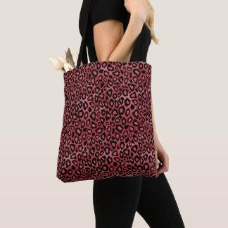 Bolsa Tote Teste padrão cor-de-rosa do leopardo