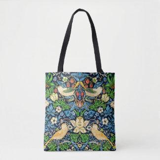 Bolsa Tote Teste padrão da tapeçaria do pássaro e da flor de