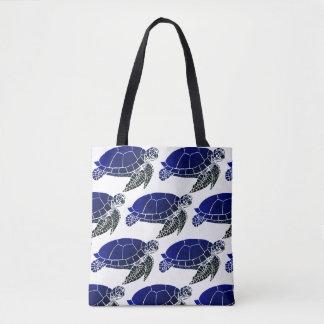 Bolsa Tote Teste padrão da tartaruga de mar