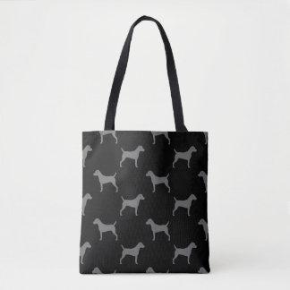 Bolsa Tote Teste padrão das silhuetas de Russell Terrier do