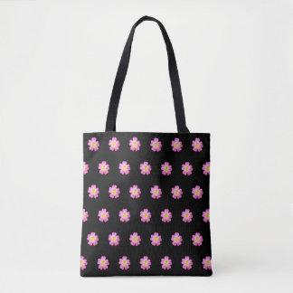 Bolsa Tote Teste padrão de flor elegante