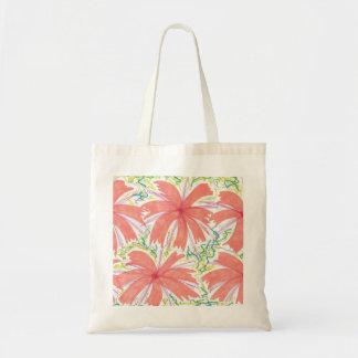 Bolsa Tote Teste padrão de flor tropical do Sunburst