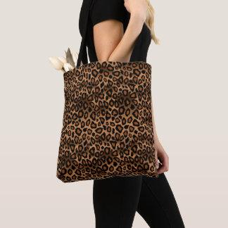 Bolsa Tote Teste padrão do leopardo de Brown