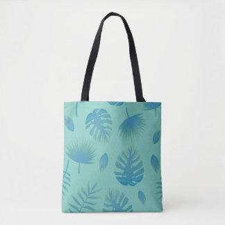 Bolsa Tote Teste padrão do verão com folhas de palmeira