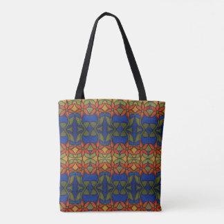 Bolsa Tote Teste padrão floral abstrato