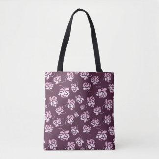 Bolsa Tote Teste padrão floral retro
