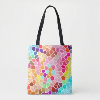 Bolsa Tote Teste padrão geométrico do estilo colorido do