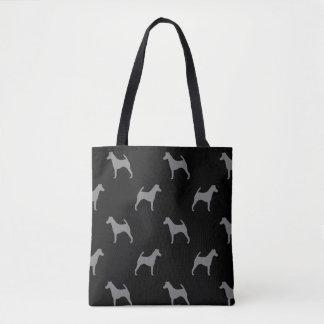 Bolsa Tote Teste padrão liso das silhuetas do Fox Terrier