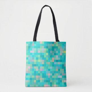 Bolsa Tote Teste padrão multicolorido da arte do pixel