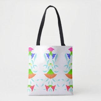 Bolsa Tote Teste padrão multicolorido, floral,