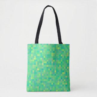 Bolsa Tote Teste padrão multicolorido verde na moda à moda do