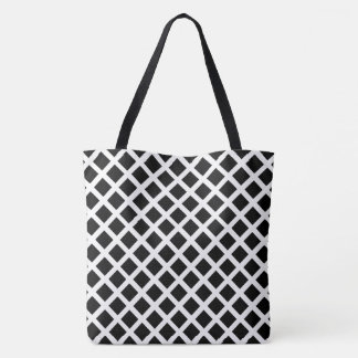 Bolsa Tote Teste padrão preto e branco da ilusão óptica da
