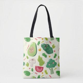 Bolsa Tote Teste padrão vegetal dos caráteres dos desenhos