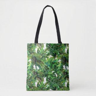 Bolsa Tote Teste padrão verde da queda da floresta da