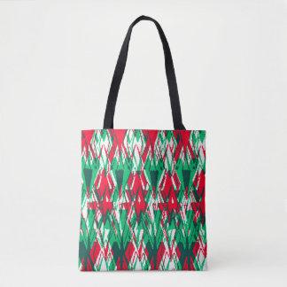Bolsa Tote Teste padrão vermelho bonito do asteca do abstrato