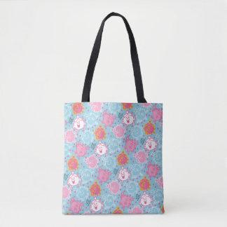 Bolsa Tote Testes padrões cor-de-rosa da senhorita princesa  