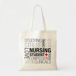 Bolsa Tote Texto de estudante dos cuidados