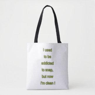Bolsa Tote Texto engraçado do sabão