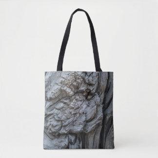 Bolsa Tote Textura abstrata do tronco de árvore