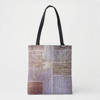 Bolsa Tote Textura de couro original do artesanato do tapete