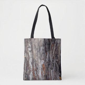 Bolsa Tote Textura do latido de árvore