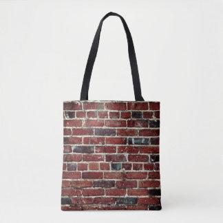 Bolsa Tote Textura legal da parede de tijolo