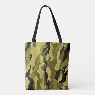 Bolsa Tote Textura verde do exército da camuflagem