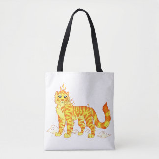 Bolsa Tote Tigre divino do fogo toda sobre - imprima a sacola