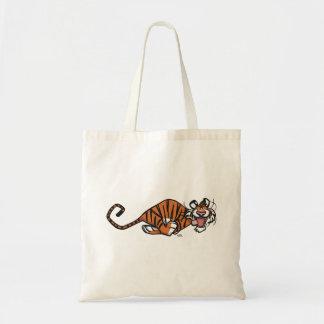 Bolsa Tote Tigre Running dos desenhos animados