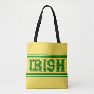 Bolsa Tote Time do colégio irlandês do vintage