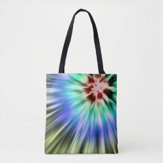 Bolsa Tote Tintura colorida do laço de Starburst