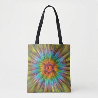 Bolsa Tote Tintura colorida Starburst do laço