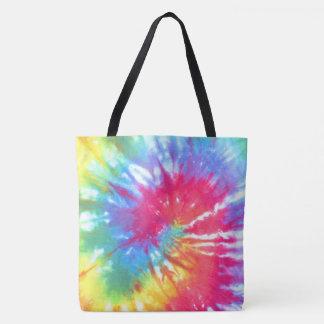 Bolsa Tote Tintura do laço do redemoinho do arco-íris