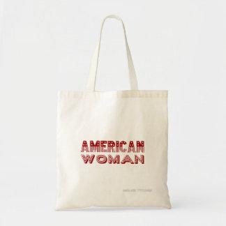 """Bolsa Tote """"Tipo da bandeira vermelha da mulher americana"""""""