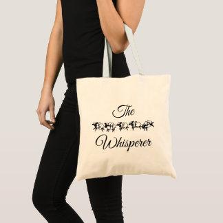 Bolsa Tote Tipografia bonito engraçada do Whisperer dos