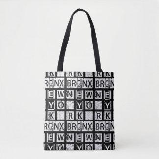 Bolsa Tote Tipografia do Grunge de Bronx New York |