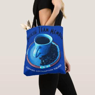 Bolsa Tote Tipografia do pelotão do consumo do café