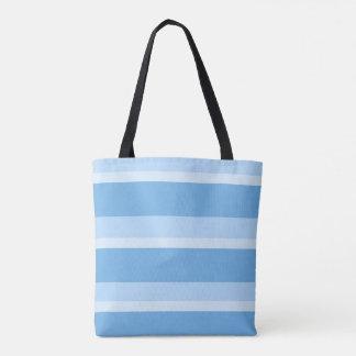 Bolsa Tote Tiras - azul